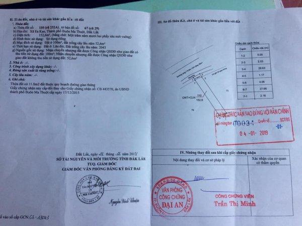 Cần bán nhà thôn Tân Hưng-Eakao-TP.BMT